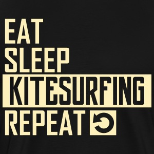 eat sleep kitesurfing T-Shirts - Men's Premium T-Shirt