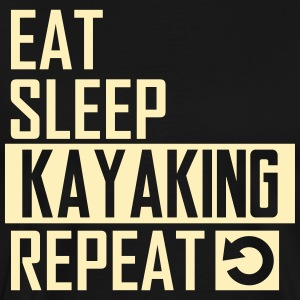 eat sleep kayaking T-Shirts - Men's Premium T-Shirt