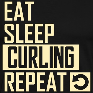 eat sleep curling T-Shirts - Men's Premium T-Shirt