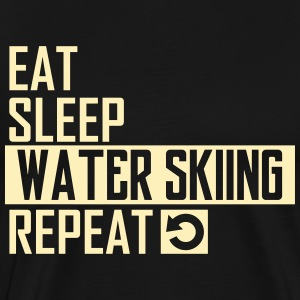eat sleep water skiing T-Shirts - Men's Premium T-Shirt
