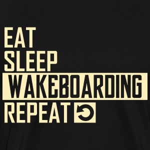 eat sleep wakeboarding T-Shirts - Men's Premium T-Shirt