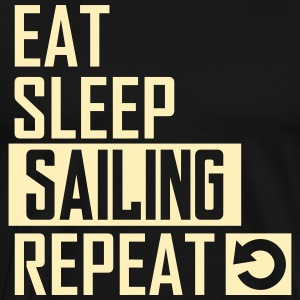 eat sleep sailing T-Shirts - Men's Premium T-Shirt
