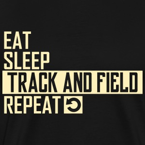 eat sleep track and field T-Shirts - Men's Premium T-Shirt