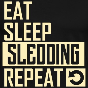eat sleep sledding T-Shirts - Men's Premium T-Shirt