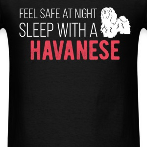 Feel safe at night sleep with a Havanese - Men's T-Shirt