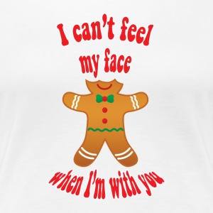 funny Christmas gingerbread man - Women's Premium T-Shirt
