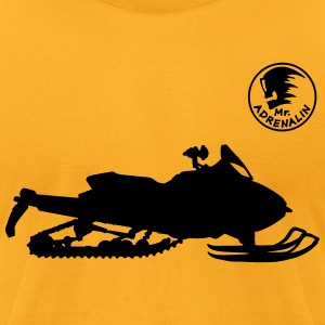 Snowmobile T-Shirts - Men's T-Shirt by American Apparel
