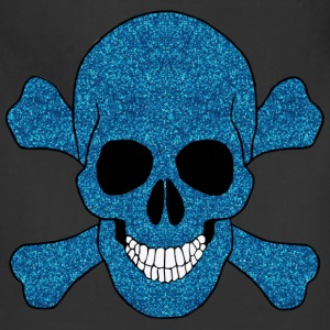Faux Blue Glitter Skull And Crossbones Apron - Adjustable Apron