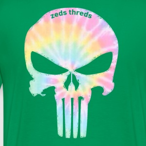 Zeds Threds Tie Dye Skull T - Men's Premium T-Shirt