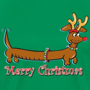 Merry Christmas Dachshund - Men's Premium T-Shirt