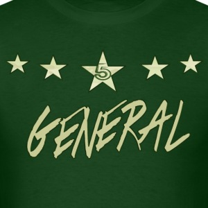 The Khaki General; khaki bold, with green finishes - Men's T-Shirt