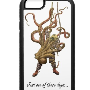 Octopus and diver - iPhone 6/6s Rubber Case