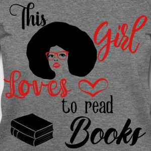 This Girl Loves To Read Books Long Sleeve Shirts - Women's Wideneck Sweatshirt