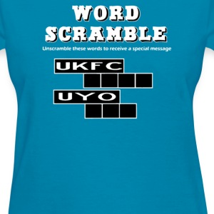 Jumble spoof Tshirt word - Women's T-Shirt