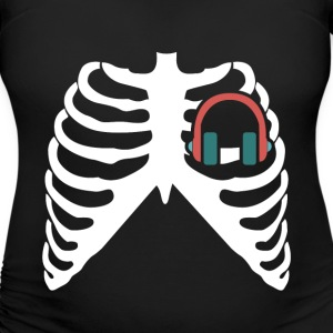 MY HEART BEATS FOR MUSIC - I LOVE MUSIC! T-Shirts - Women's Maternity T-Shirt