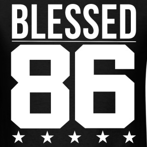 Blessed 1986 Bible Verse Quote Birthday Greeting T-Shirts - Men's T-Shirt