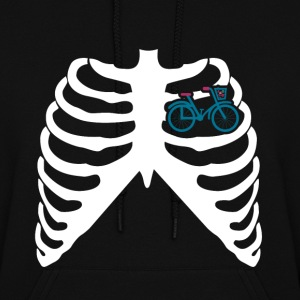 MY HEART BEATS FOR BICYCLES - I LOVE MY BIKE! Hoodies - Women's Hoodie