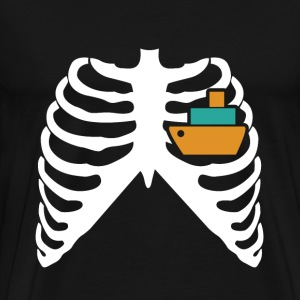 MY HEART BEATS FOR SHIPS! I LOVE SHIPS! T-Shirts - Men's Premium T-Shirt