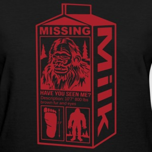 Sasquatch Milk Carton - Women's T-Shirt