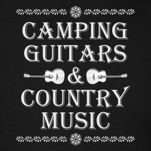 camping guitars country music - Men's T-Shirt