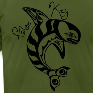 False Key Killer Whale T-Shirts - Men's T-Shirt by American Apparel