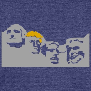 Mount Trumpmore T-Shirts - Unisex Tri-Blend T-Shirt by American Apparel