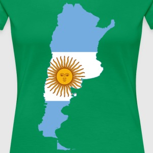 Map of Argentina T-Shirts - Women's Premium T-Shirt