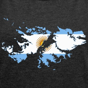 Falkland Islands T-Shirts - Women´s Rolled Sleeve Boxy T-Shirt