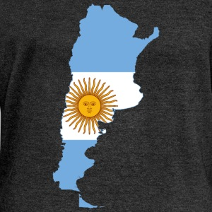 Map of Argentina Long Sleeve Shirts - Women's Wideneck Sweatshirt