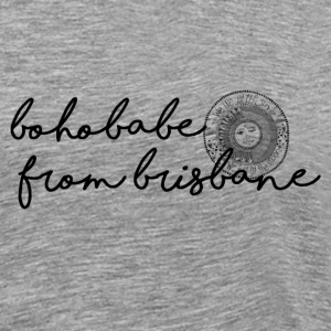 Boho Babe from Brisbane w/ symbol - Men's Premium T-Shirt