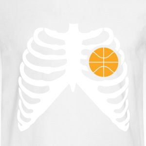 MY HEART BEATS FOR BASKETBALL Long Sleeve Shirts - Men's Long Sleeve T-Shirt