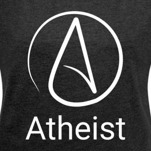 ATHEIST ATHEISM SYMBOL LOGO SIGN T-Shirts - Women´s Rolled Sleeve Boxy T-Shirt