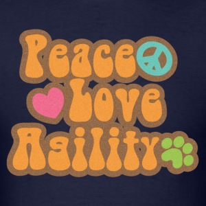 Retro Peace Love Agility T-Shirts - Men's T-Shirt