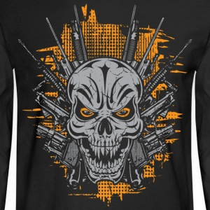 Badass Skull Tattoo Long Sleeve Shirts - Men's Long Sleeve T-Shirt