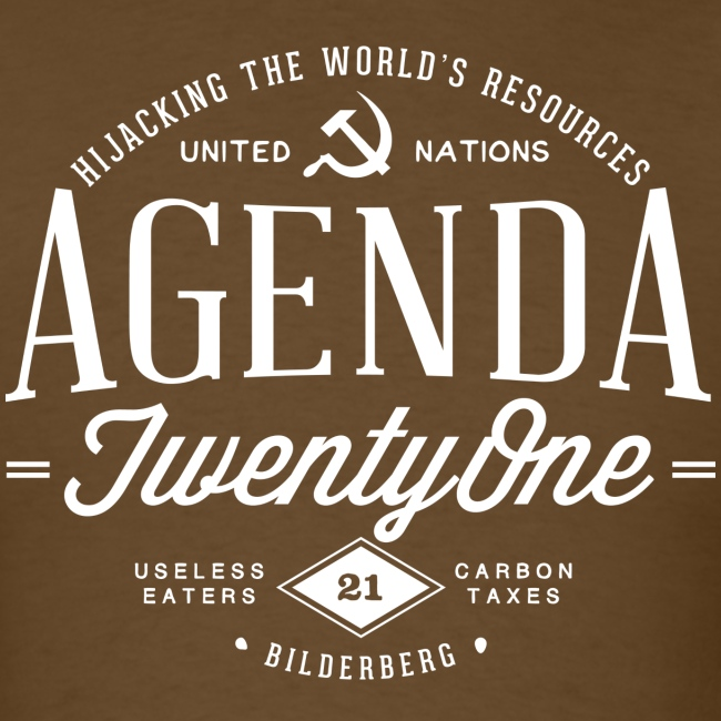 Agenda 21 Mens T-Shirt