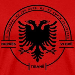 Albanian Cities Badge - Men's Premium T-Shirt