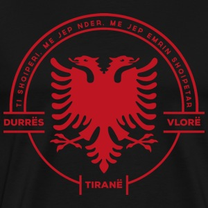 Albanian Cities Badge Red - Men's Premium T-Shirt