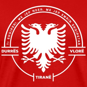 Albanian Cities Badge White - Men's Premium T-Shirt