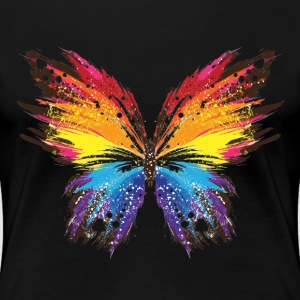 Colorful Abstract Butterfly - Women's Premium T-Shirt