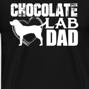 Chocolate Lab Dad Shirt - Men's Premium T-Shirt