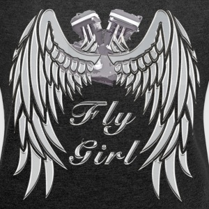 Fly Girl Women's Biker Tank - Women´s Roll Cuff T-Shirt