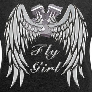 Fly Girl Women's Biker Tank - Women´s Rolled Sleeve Boxy T-Shirt