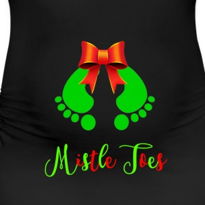 Mistle Toes Baby Footprints T-Shirts - Women's Maternity T-Shirt