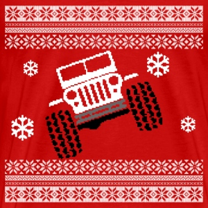 Jeep Christmas Ugly Sweater - Men's Premium T-Shirt