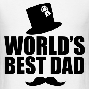 WORLD'S BEST DAD 1.png T-Shirts - Men's T-Shirt