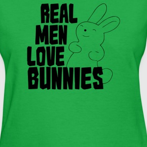 Real Men Love Bunnies - Women's T-Shirt
