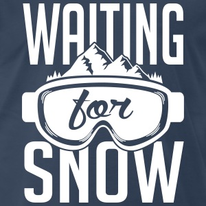 Skiing: waiting for snow T-Shirts - Men's Premium T-Shirt