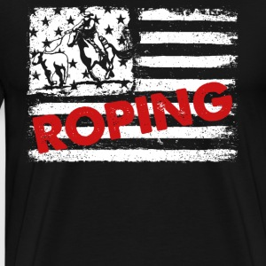 Roping Flag Shirts - Men's Premium T-Shirt