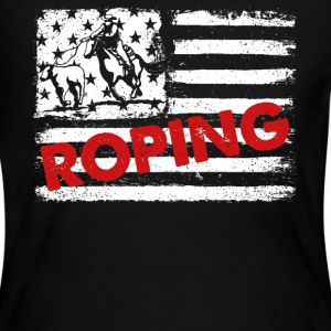 Roping Flag Shirts - Women's Long Sleeve Jersey T-Shirt