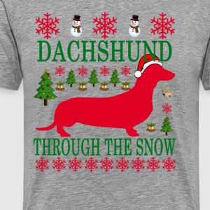 dachshund_through_the_snow_ - Men's Premium T-Shirt